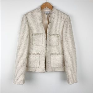 J. Crew Metallic Tweed Jacket with Front Pockets